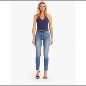 NWT MOTHER High Waisted Looker Ankle Denim size 30
